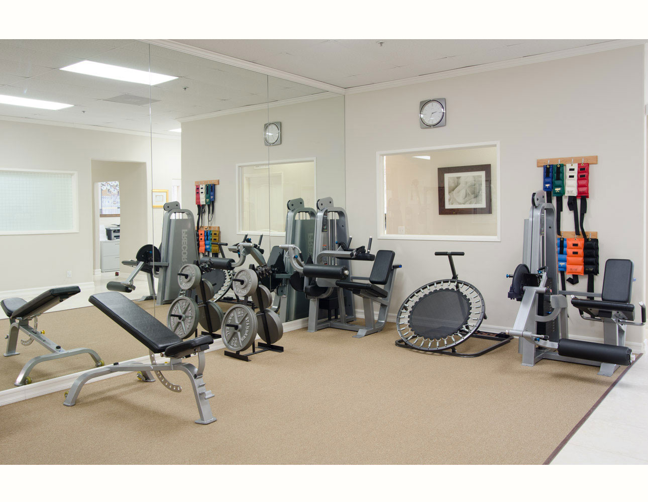 Equipment exercise physical therapy - Physical Therapy Equipment Room
